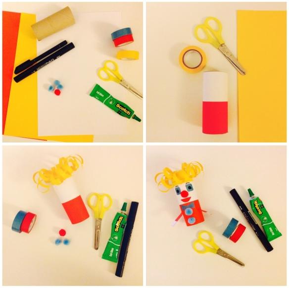Étapes de fabrication de la mationnette Clown - by Humeur de moutard