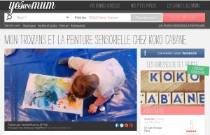 Atelier peinture Sensorielle chez Koko Cabane - by Humeur de moutard
