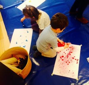 Peinture sensorielle - pédagogie Montessori - by Humeur de moutard