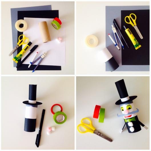 Étapes de création de la marionnette magicien - by Humeur de moutard