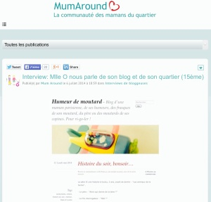 Interview Humeur de moutard sur Mumaround.com