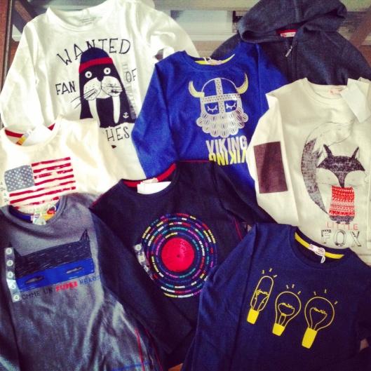 T-shirts imprimés enfants DPAM et Monoprix