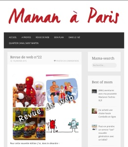 Revue du web n°22 - Maman à Paris
