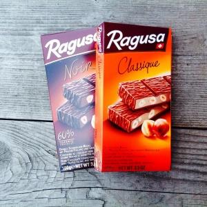Le chocolat au lait et aux noisettes Ragusa