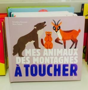 Mes animaux de montagne à toucher aux Éditions Milan