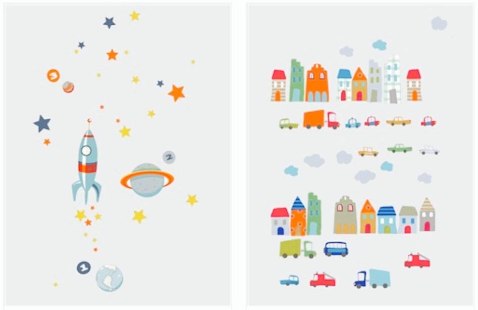 coup de coeur les stickers d co pour chambre d enfant humeur de moutard. Black Bedroom Furniture Sets. Home Design Ideas