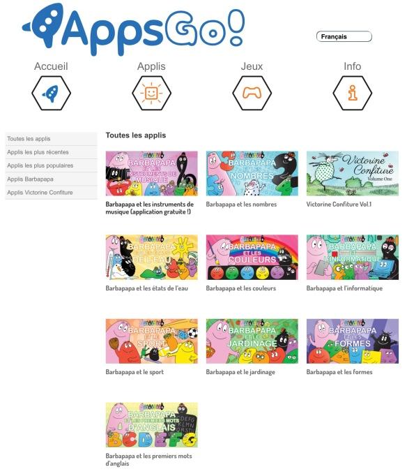 Les autres applis AppsGo Barbapapa - by Humeur de moutard