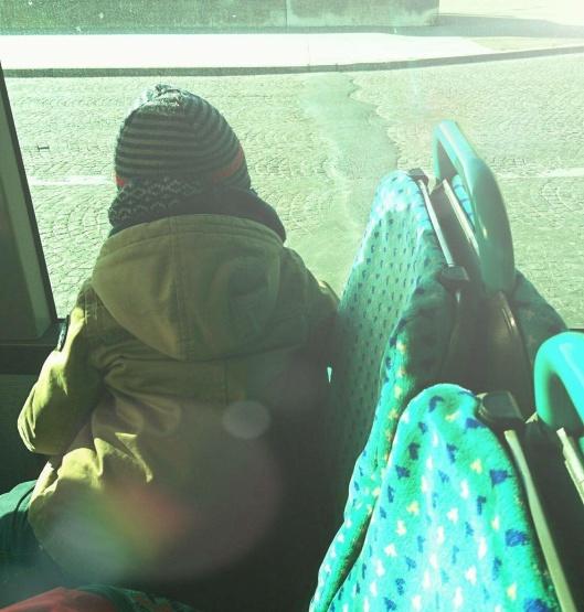 Mon mini dans le bus à Paris