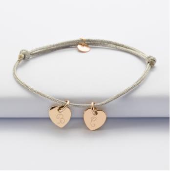 Bracelet coeurs avec initiales
