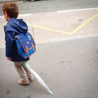 Cheminer sur un parapluie