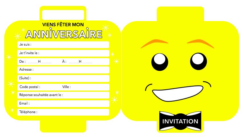 Carte invitation anniversaire lego friends gratuite a imprimer