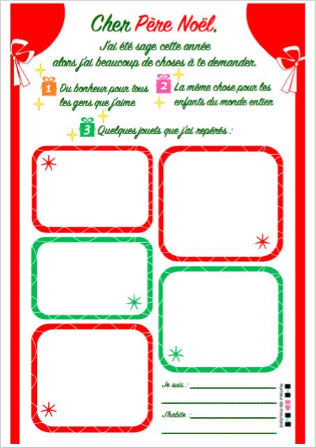 DIY La lettre au Père Noël 2017 | Humeur de moutard